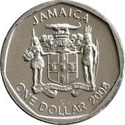 1 dollar - Bustamante (ronde) -  avers