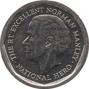5 dollars - Norman Manley -  revers