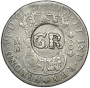 6 Shillings 8 Pence (Countermarked coinage) – avers