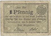 1 Pfennig (Jarotschin) – avers