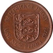1 nouveau penny Elizabeth II (2e effigie) – revers