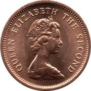 ½ nouveau penny Elizabeth II (2e effigie) – avers