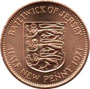 ½ nouveau penny Elizabeth II (2e effigie) – revers