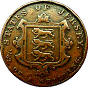 1/52 shilling Victoria (1ère effigie, cuivre) – revers
