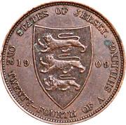 1/24 shilling Édouard VII – revers