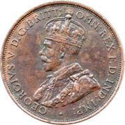 1/12 shilling George V (2e type) – avers