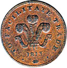 1 Penny (Bank Token) – avers