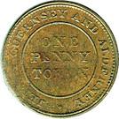 1 Penny (Bank Token) – revers