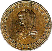 1 Penny (Bank Token) – avers
