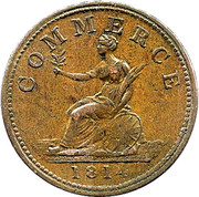 1 Penny (Bank Token) – revers