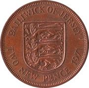 2 nouveaux pence Elizabeth II (2e effigie) – revers