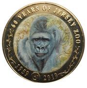 2 pounds 60ème anniversaire du zoo de Jersey (Gorille) -  revers