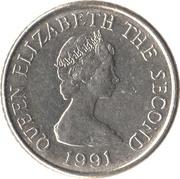 5 pence Elizabeth II (2e effigie, 2e type, petit module) -  avers