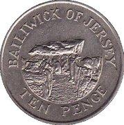 10 pence Elizabeth II (2e effigie, 2e type) -  revers
