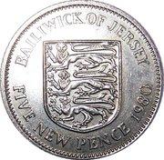 5 nouveaux pence Elizabeth II (2e effigie) -  revers