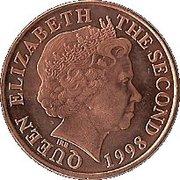 2 pence Elisabeth II (4e effigie, 2e type) -  avers