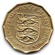¼ shilling Bataille d'Hastings -  revers