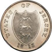 3 shillings (jeton, argent 891‰) – avers