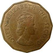 ¼ shilling Elizabeth II (1ère effigie, dodécagonale) – avers