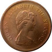 ½ penny - Elizabeth II (2e effigie) – avers