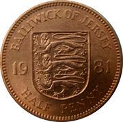 ½ penny - Elizabeth II (2e effigie) – revers