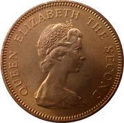 1 penny Elizabeth II (2e effigie, 1er type) – avers