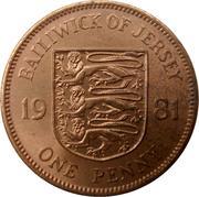 1 penny Elizabeth II (2e effigie, 1er type) – revers