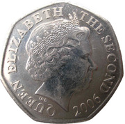 50 pence Elizabeth II (4e effigie, 2e type) -  avers