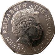 20 pence Elizabeth II (4e effigie, 2e type) -  avers