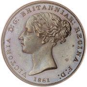 1/26 shilling Victoria (1ère effigie) – avers
