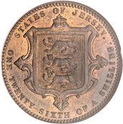 1/26 shilling Victoria (2e effigie) – revers