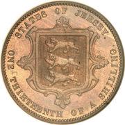 1/13 shilling Victoria (2e effigie) – revers