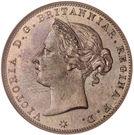 1/24 shilling Victoria (3e effigie) – avers