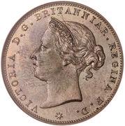 1/24 shilling Victoria (3e effigie) -  avers