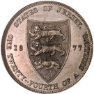 1/24 shilling Victoria (3e effigie) – revers