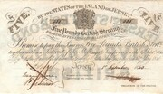 The States of Jersey £5 Bond Sterling 1840 – avers