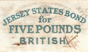 The States of Jersey £5 Bond Sterling 1840 – revers