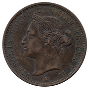 1/12 shilling Victoria (2e effigie) – avers