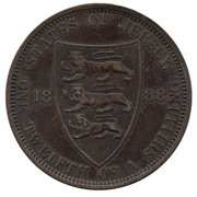 1/12 shilling Victoria (2e effigie) – revers
