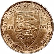 1/12 shilling Édouard VII – revers