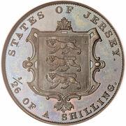 1/26 shilling Victoria (1ère effigie) – revers
