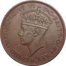 1/24 shilling George VI – avers