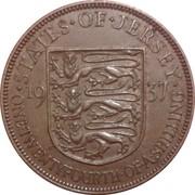 1/24 shilling George VI – revers