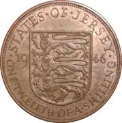 1/12 shilling George VI – revers