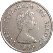 5 pence Elizabeth II (2e effigie, 2e type, grand module) -  avers