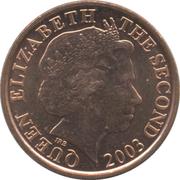 1 penny Elizabeth II (4e effigie, 2e type) – avers
