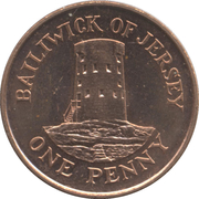 1 penny Elizabeth II (4e effigie, 2e type) – revers
