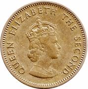 ¼ shilling Elizabeth II (1ère effigie, ronde) – avers