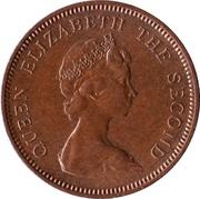 1 nouveau penny Elizabeth II (2e effigie) – avers