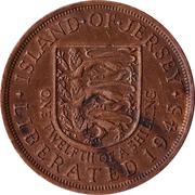 1/12 shilling - Elizabeth II (1ère effigie ; Libération) – revers
